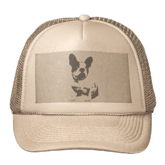 print French bulldog in vintage texture Cap