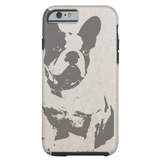 print French bulldog in vintage texture Tough iPhone 6 Case