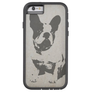 print French bulldog in vintage texture Tough Xtreme iPhone 6 Case