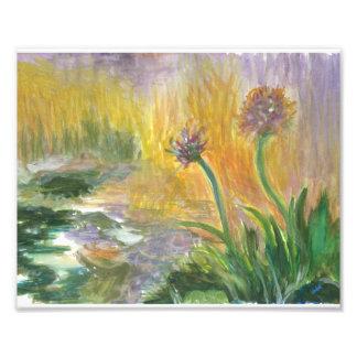 Print from Original watercolor w Monet theme Photograph