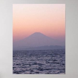 Print-Fuji san sunset