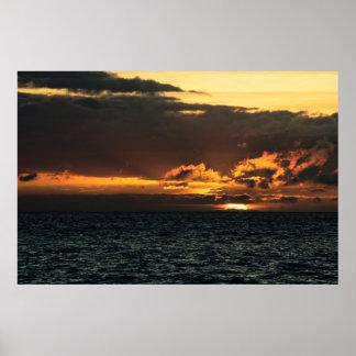 Print: Hawaii Sunset Poster
