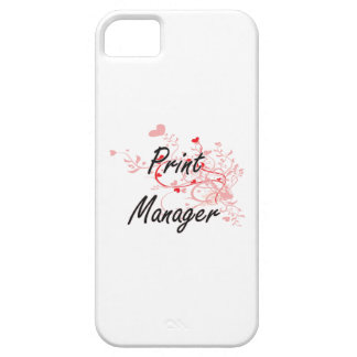 Print Manager Artistic Job Design with Hearts iPhone 5 Cases
