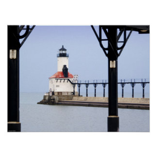 Print - Michigan City East Pierhead LIght