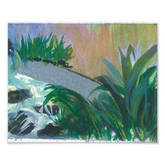 "Print of Original Watercolor called ""Hotel Garden"" Photo Art"