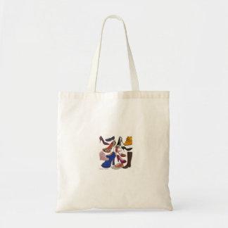 Print of shoes budget tote bag