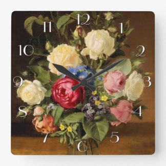 "Print of ""Victorian Roses"" Wall Clock"