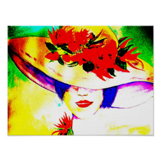 Print of Watercolor Painting Hot Chilli Girl