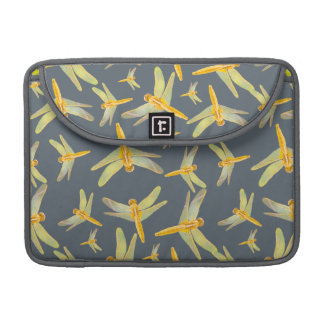 Print of yellow and gold dragonflies sleeves for MacBook pro