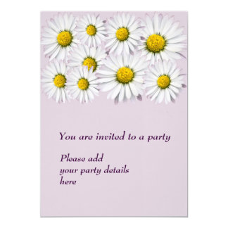 Print of yellow and white daisies card