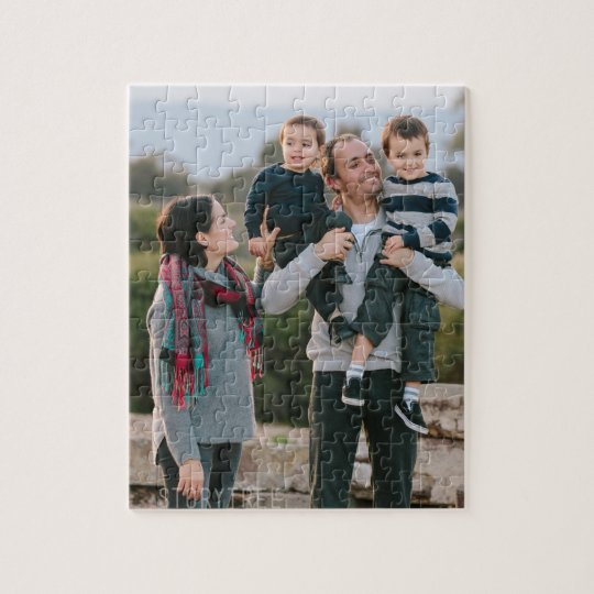 Print on a PUZZLE - Add pics and text!