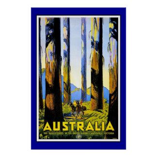 Print Retro Vintage Image Travel Australia