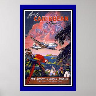 Print Retro Vintage Image Travel Caribbean