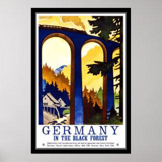 Print Retro Vintage Image Travel Germany