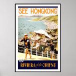 Print Retro Vintage Image Travel Hong Kong