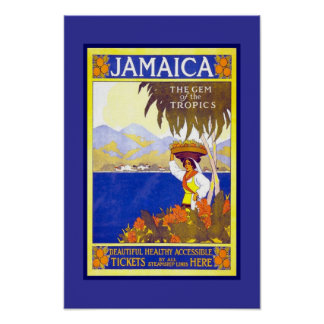 Print Retro Vintage Image Travel Jamaica
