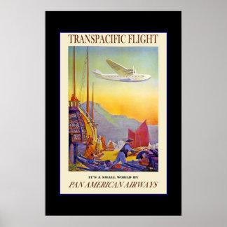 Print Retro Vintage Image Travel Pan American