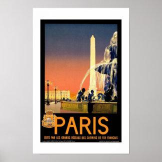 Print Retro Vintage Image Travel Paris France