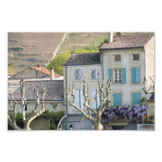 PRINT - Rural village scene France Photograph