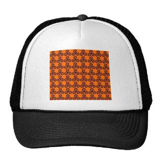 Print Spiral Orange Orange Swirl Pattern Cap