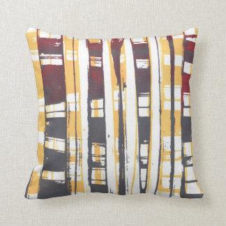 Print Squares Throw Pillow Cushion