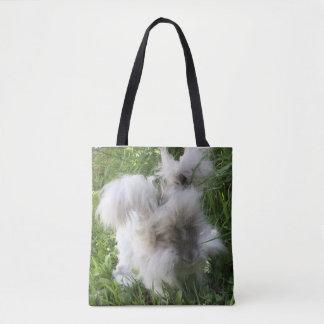 "Print Tote Bag - English Angora Rabbit ""Bradley"""