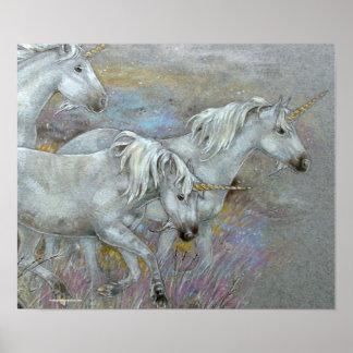 PRINT - Unicorn Three Mares
