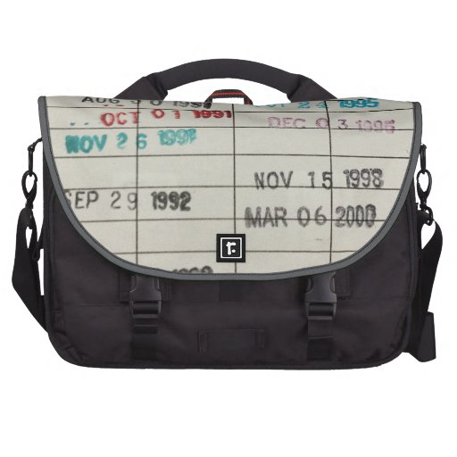 Printable Library Cards Commuter Bag