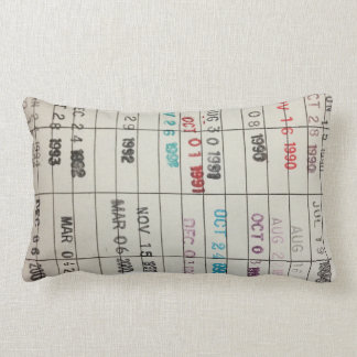 Printable Library Cards Lumbar Pillow