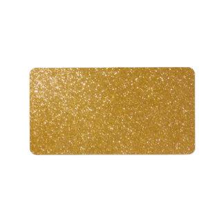 Printable shiny gold glitter blank address labels