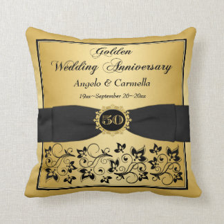 PRINTED BOW 50th Anniversary Double PHOTO Pillow 3