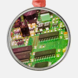 Printed Circuit Board - PCB Silver-Colored Round Decoration
