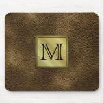 Printed Custom Monogram Image. Brown. Mouse Mats