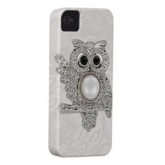 Printed Diamonds Owl & Paisley Lace iPhone 4 Cases