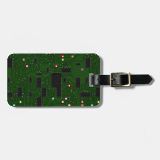 Printed Electronic Circuit Board Luggage Tag
