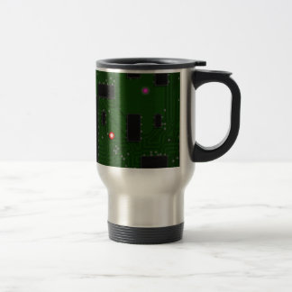 Printed Electronic Circuit Board Stainless Steel Travel Mug