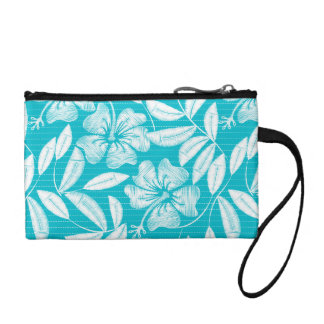 Printed embroidery pin stripes coin purse