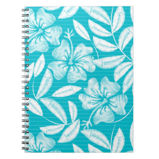 Printed embroidery pin stripes notebook
