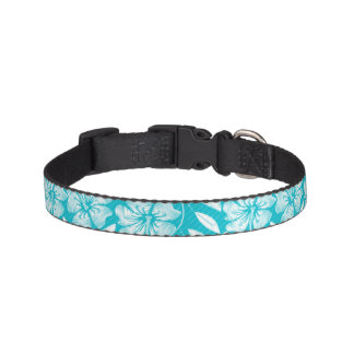 Printed embroidery pin stripes pet collar