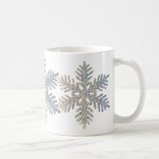 Printed Glittery Snowflake Coffee Mug