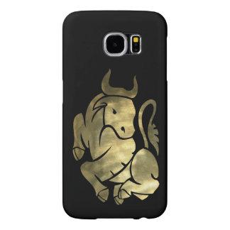 Printed Gold Taurus Bull Samsung Galaxy S6 Cases
