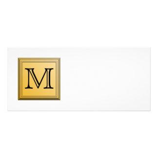 Printed image of a custom monogram design. custom rack cards