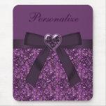 Printed Purple Gem Stones & Heart Jewel