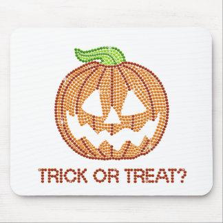 Printed Rhinestone Pumpkin Trick or Treat Mouse Pad