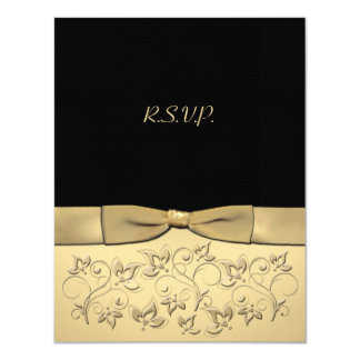 PRINTED RIBBON 50 Years Anniversary RSVP Card 11 Cm X 14 Cm Invitation Card