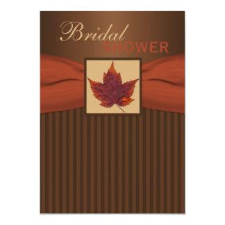 PRINTED RIBBON Autumn Leaf II Bridal Shower Invite