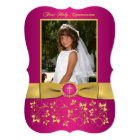 PRINTED RIBBON Fancy Shape Holy Communion Photo Card