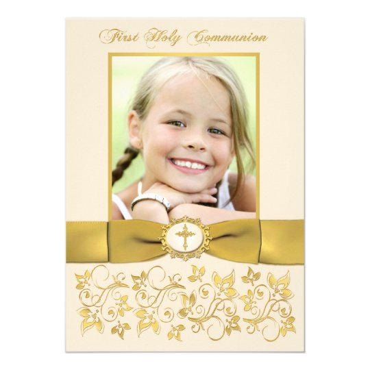 PRINTED RIBBON Holy Communion Photo Invite