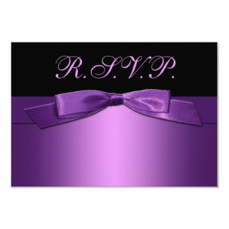 PRINTED RIBBON Purple, Black Reply Card