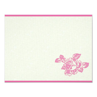Printed Rose-DIY 11 Cm X 14 Cm Invitation Card